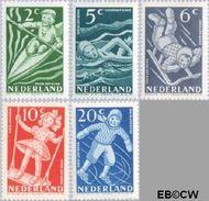 Nederland NL 508#512  1948 Sport en beweging   cent  Gestempeld