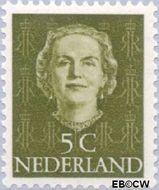 Nederland NL 518  1949 Koningin Juliana- Type 'En Face' 5 cent  Postfris