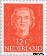Nederland NL 521  1949 Koningin Juliana- Type 'En Face' 12 cent  Gestempeld