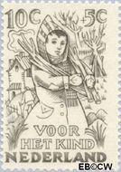 Nederland NL 547  1949 Jaargetijden 10+5 cent  Gestempeld
