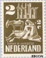 Nederland NL 556  1950 Kerken in Oorlogstijd 2+2 cent  Gestempeld