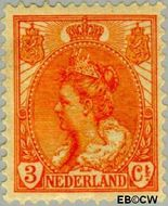 Nederland NL 56  1899 Koningin Wilhelmina- 'Bontkraag' 3 cent  Gestempeld