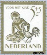 Nederland NL 564  1950 Kind en dieren 5+3 cent  Gestempeld