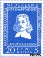 Nederland NL 581  1952 Riebeeck-monument 20+5 cent  Gestempeld