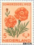 Nederland NL 603  1953 Bloemen 5+3 cent  Postfris