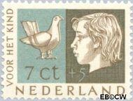 Nederland NL 614  1953 Kinderhoofden 7+5 cent  Gestempeld