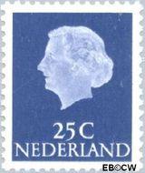 Nederland NL 623  1953 Koningin Juliana- Type 'En Profile' 25 cent  Gestempeld