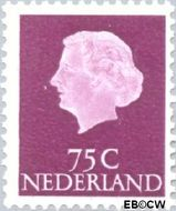 Nederland NL 633  1953 Koningin Juliana- Type 'En Profile' 75 cent  Gestempeld