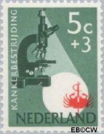 Nederland NL 662  1955 Kankerbestrijding 5+3 cent  Gestempeld