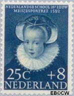 Nederland NL 687  1956 Kinderportretten 25+8 cent  Gestempeld