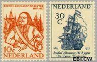 Nederland NL 693#694  1957 Ruyter, M.A. de   cent  Gestempeld