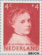 Nederland NL 702  1957 Meisjesportretten 4+4 cent  Gestempeld