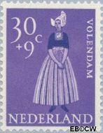 Nederland NL 711  1958 Klederdrachten 30+9 cent  Gestempeld