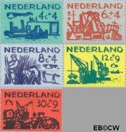 Nederland NL 722#726  1959 Deltawerken   cent  Gestempeld