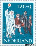 Nederland NL 734  1959 Activiteiten kinderen 12+9 cent  Gestempeld