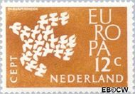 Nederland NL 757  1961 C.E.P.T.- Duiven in vlucht 12 cent  Gestempeld