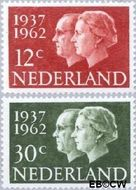 Nederland NL 764#765  1962 Koningin Juliana- Huwelijksjubileum   cent  Postfris