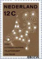 Nederland NL 772  1962 Automatisering telefoonnet 12 cent  Postfris
