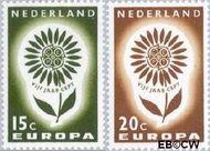 Nederland NL 827#828  1964 C.E.P.T.- Bloem   cent  Postfris