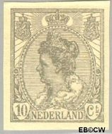 Nederland NL 83  1923 Koningin Wilhelmina- 'Bontkraag' ongetand 10 cent  Postfris