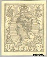 Nederland NL 83  1923 Koningin Wilhelmina- 'Bontkraag' ongetand 10 cent  Gestempeld