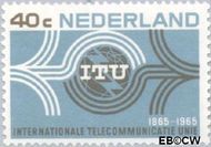 Nederland NL 841  1965  I.T.U. 40 cent  Gestempeld