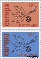 Nederland NL 847#848  1965 C.E.P.T.- Vrucht   cent  Gestempeld