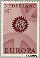 Nederland NL 885  1967 C.E.P.T.- Radarwerk 45 cent  Gestempeld