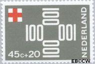 Nederland NL 893  1967 Rode Kruis 45+20 cent  Gestempeld