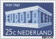 Nederland NL 925  1969 C.E.P.T.- Gebouw 25 cent  Gestempeld