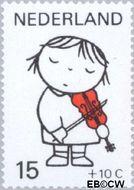 Nederland NL 933  1969 Kind en muziek 15+10 cent  Gestempeld