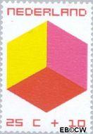 Nederland NL 981  1970 Kubus 25+10 cent  Gestempeld