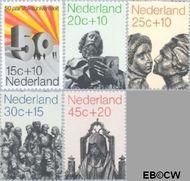 Nederland NL 985#989  1971 Beelden  cent  Gestempeld
