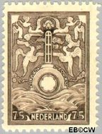 Nederland NL BK3  1921 Vervoer in drijvende brandkast 75 cent  Gestempeld