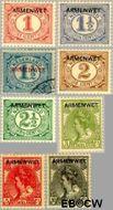 Nederland NL D1#D8  1913 Armenwet  cent  Gestempeld