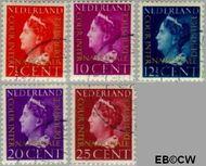 Nederland NL D20#D24  1947 Cour Internationale de Justice  cent  Gestempeld