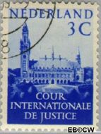 Nederland NL D28  1951 Cour Internationale de Justice 3 cent  Gestempeld