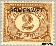 Nederland NL D3  1913 Armenwet 2 cent  Gestempeld