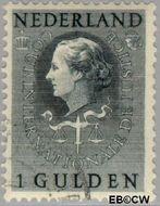 Nederland NL D40  1951 Cour Internationale de Justice 100 cent  Gestempeld