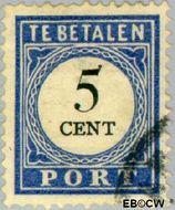 Nederland NL P19  1894 Portzegel 5 cent  Gestempeld