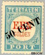 Nederland NL P28  1906 Portzegel 50 op 100 cent  Gestempeld