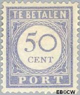 Nederland NL P60  1912 Portzegel 50 cent  Gestempeld