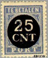 Nederland NL P64  1923 Portzegel 25 op 7½ cent  Gestempeld