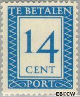 Nederland NL P90  1947 Portzegel 14 cent  Gestempeld
