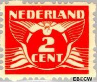 Nederland NL R36  1928 Type 'Lebeau' 2 cent  Gestempeld