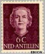 Nederlandse Antillen NA 218  1950 Type 'En Face' 6 cent  Gestempeld