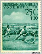 Nederlandse Antillen NA 238  1951 Kinderspelen 25+10 cent  Gestempeld