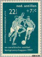 Nederlandse Antillen NA 268  1957 Voetbalkampioenschappen 22½+7½ cent  Gestempeld