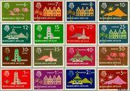 Nederlandse Antillen NA 275#290  1958 Landschappen  cent  Gestempeld
