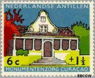 Nederlandse Antillen NA 298  1959 Monumentenzorg 6+1½ cent  Gestempeld
